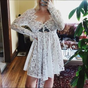WHITE LACE FOR LOVE AND LEMONS DRESS